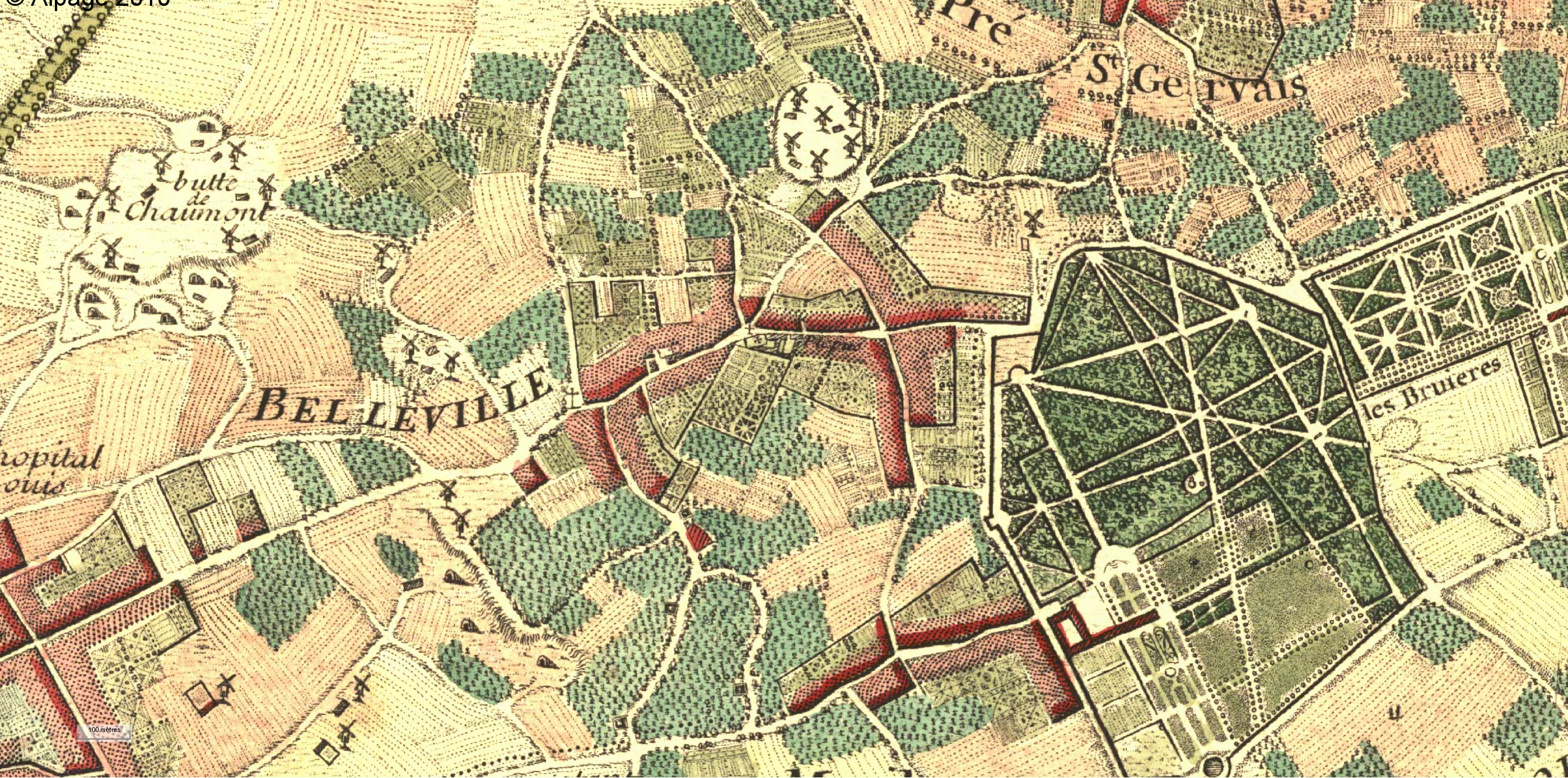 Belleville et charonne atlas historique de paris for Plan de belle villa