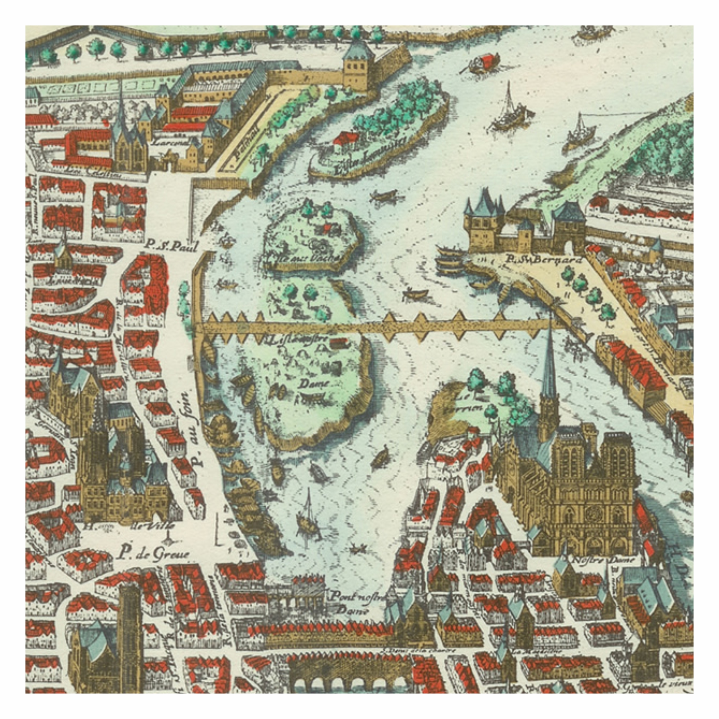 L 39 le saint louis atlas historique de paris - Ile saint louis histoire ...