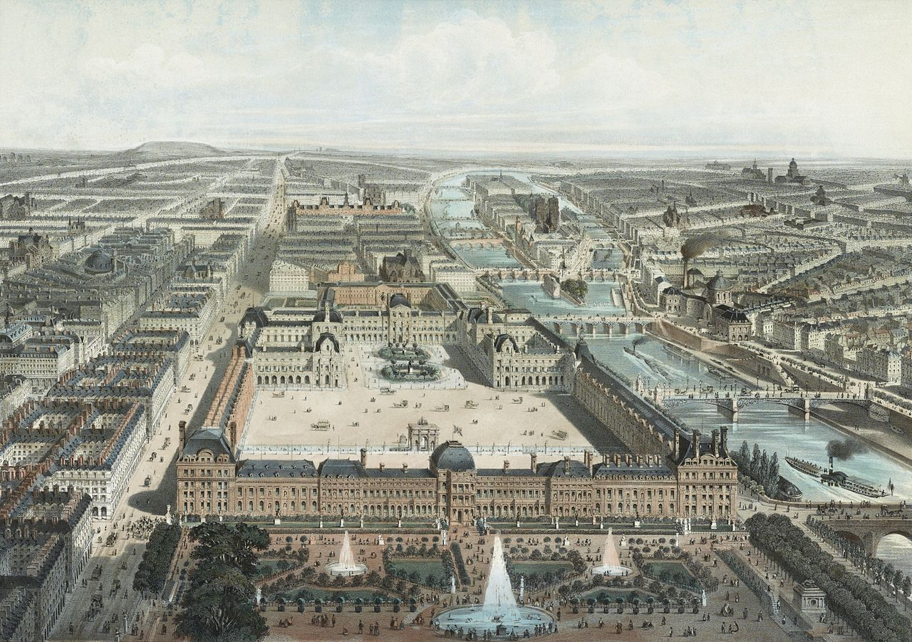 Le louvre et les tuileries atlas historique de paris for Histoire des jardins wikipedia
