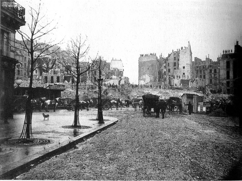 Paris 1877 Percement De L Avenue De L Op 233 Ra Photo border=