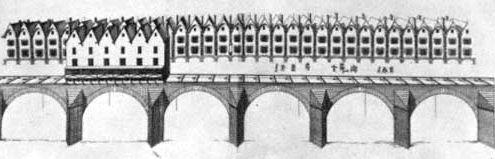 Suivez les hirondelles de Paris au moyen-âge Pont_Notre-Dame_-_1576_-_gravure_Jacques_Androuet_du_Cerceau