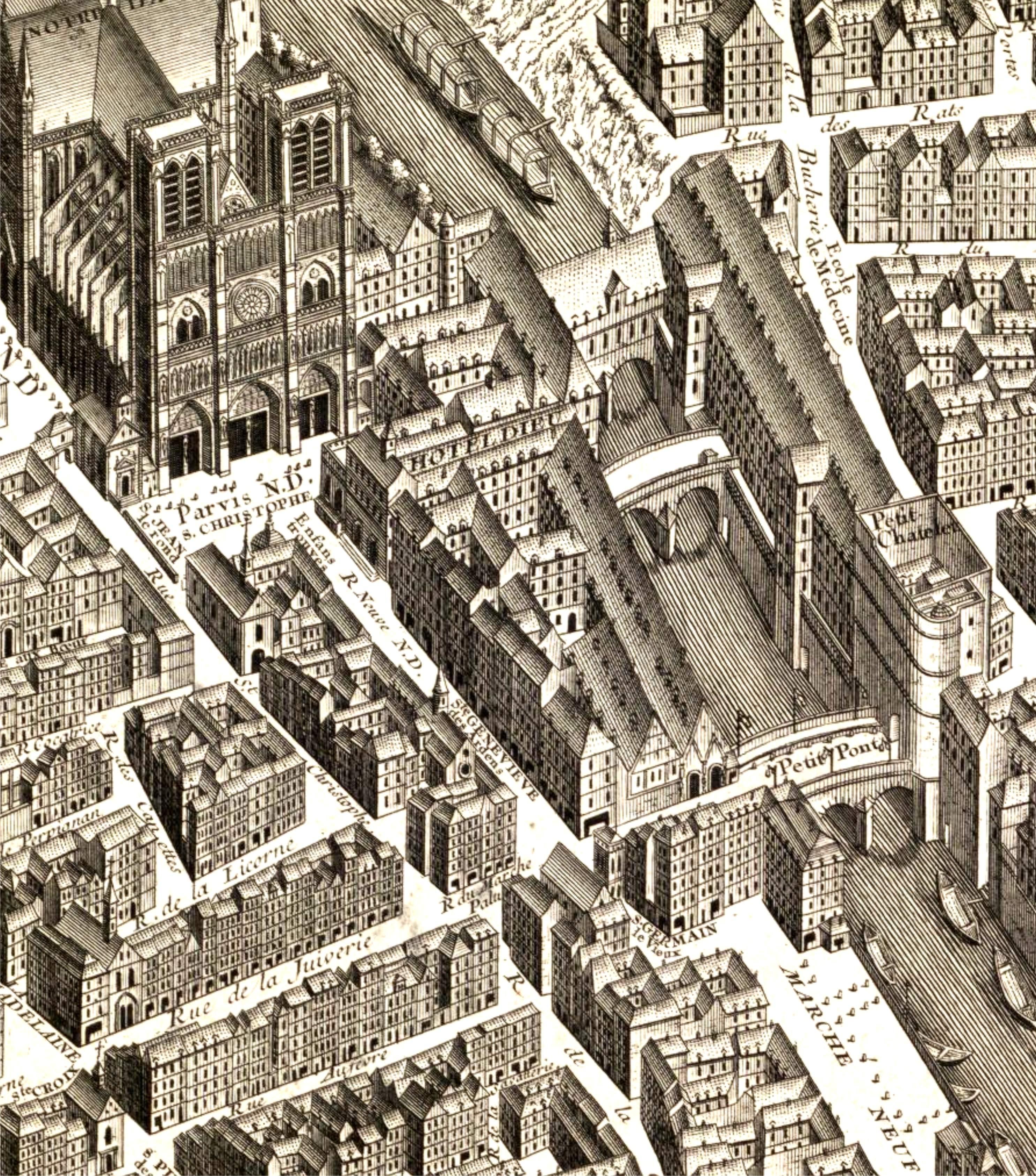 L 39 le de la cit atlas historique de paris for Architecture ancienne
